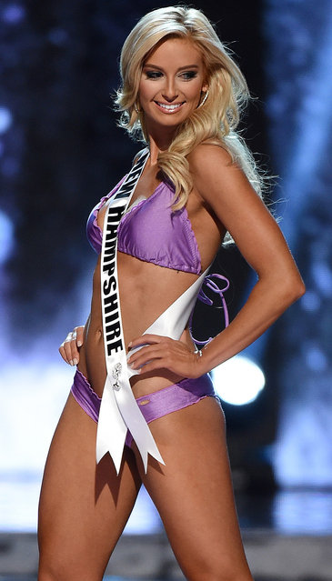 Miss New Hampshire USA Jessica Strohm competes in the swimsuit competition during the 2016 Miss USA pageant preliminary competition at T-Mobile Arena on June 1, 2016 in Las Vegas, Nevada. (Photo by Ethan Miller/Getty Images)