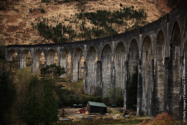 A view of the Glenfinnan Viaduct