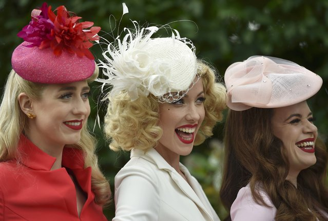Britain Horse Racing, Royal Ascot, Ascot Racecourse on June 16, 2016. Ladies Day Racegoers wear hats. (Photo by Toby Melville/Reuters)