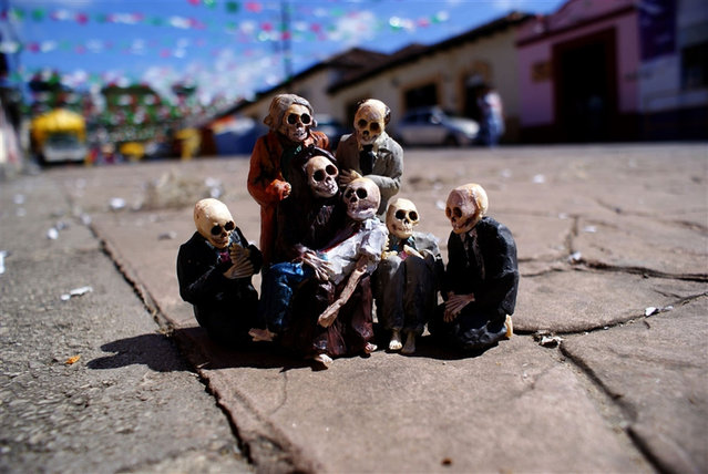 Cement Eclipses By Isaac Cordal
