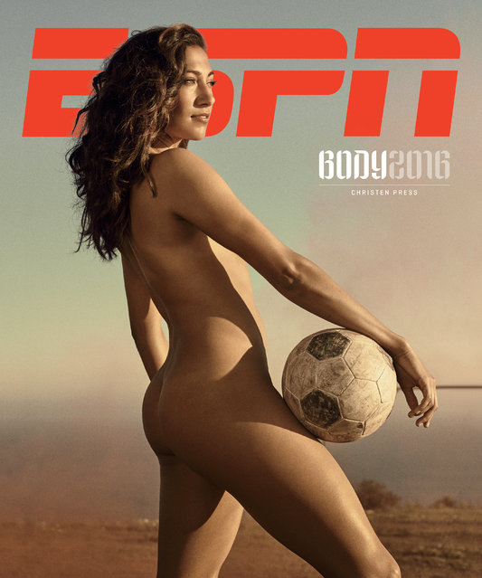 Soccer player Christen Press. (Photo by Carlos Serrao for ESPN The Magazine)
