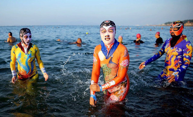 Zhang Shifan's sixth-generation facekinis in Shandong Province, Qingdao, East China. (Photo by CEN)