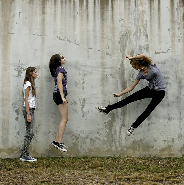 """""""Jumpology"""". """"I never told you, but im really a ninja"""". (Photo by Holly Henry)"""
