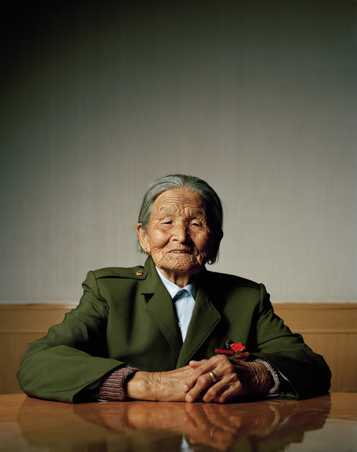 """Liu Tianyou (91). Oldest living participant of the """"Long March"""" in a retirement home for revolutionaries. Yanan, Shaanxi. (Photo by Mathias Braschler and Monika Fischer)"""