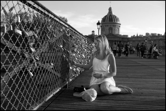 The Bridge of Love-Le Pont Des Arts, Paris. (Photo and comment by Peter Turnley)