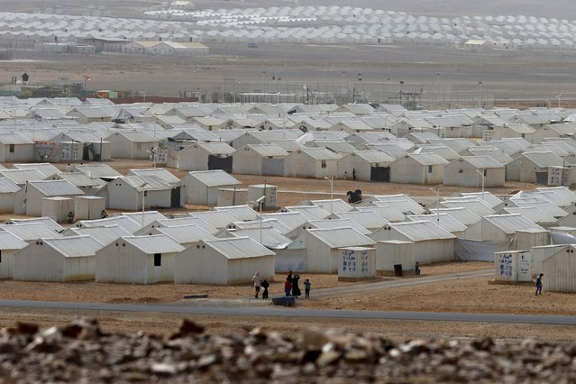 A general view of the Azraq refugee camp near Al Azraq city, Jordan, October 19, 2015. (Photo by Muhammad Hamed/Reuters)