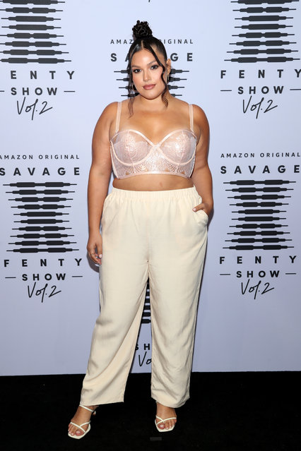 In this image released on October 1, Vanessa Romo attends Rihanna's Savage X Fenty Show Vol. 2 presented by Amazon Prime Video at the Los Angeles Convention Center in Los Angeles, California; and broadcast on October 2, 2020. (Photo by Jerritt Clark/Getty Images for Savage X Fenty Show Vol. 2 Presented by Amazon Prime Video)