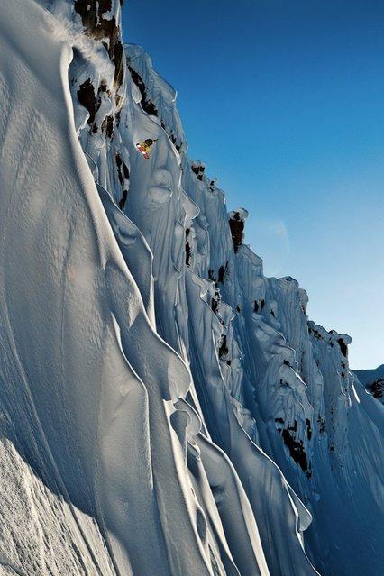 Photographer: Scott Serfas. Athlete: John Jackson. Location: Tordrillo Mountains, AK, USA. (Photo by Scott Serfas/Red Bull Illume via The Atlantic)