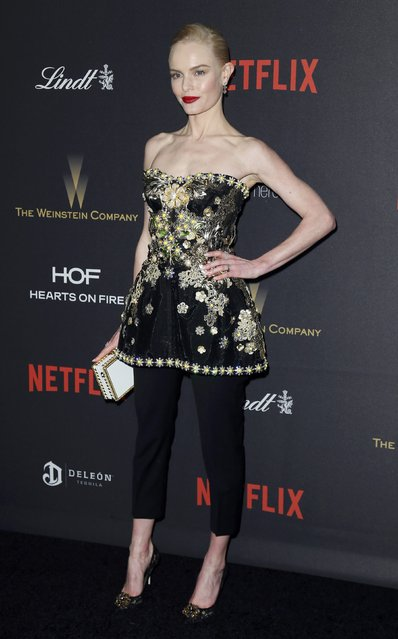 Actress Kate Bosworth arrives at The Weinstein Company & Netflix Golden Globe After Party in Beverly Hills, California January 10, 2016. (Photo by Danny Moloshok/Reuters)