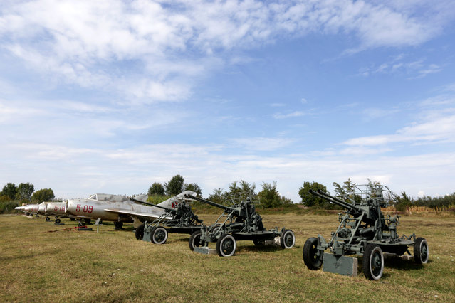 Old Albanian military vehicles are pictured at Kucova Air Base in Kucova, Albania on October 3, 2018. (Photo by Florion Goga/Reuters)