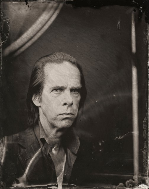Nick Cave poses for a tintype (wet collodion) portrait at The Collective and Gibson Lounge Powered by CEG, during the 2014 Sundance Film Festival in Park City, Utah. (Photo by Victoria Will/AP Photo/Invision)