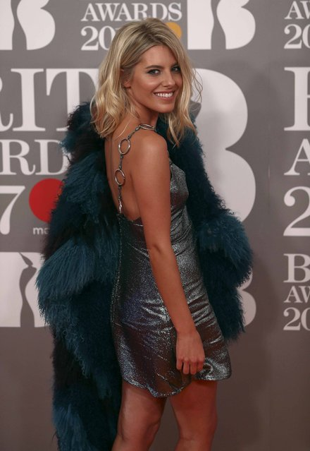 Mollie King arrives for the Brit Awards at the O2 Arena in London, Britain, February 22, 2017. (Photo by Neil Hall/Reuters)