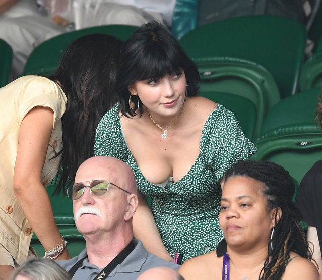 Daisy Lowe attends day ten of the Wimbledon Tennis Championships at All England Lawn Tennis and Croquet Club on July 11, 2019 in London, England. (Photo by Paul Edwards/The Sun)
