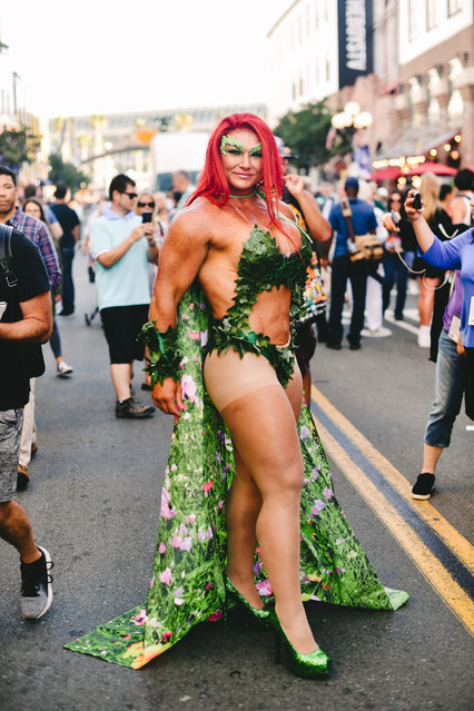 A cosplayer dressed as Poison Ivy attend the 2019 Comic-Con International on July 18, 2019 in San Diego, California. (Photo by Matt Winkelmeyer/Getty Images)