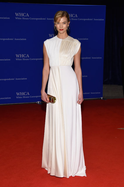 Model Karlie Kloss attends the 102nd White House Correspondents' Association Dinner on April 30, 2016 in Washington, DC. (Photo by Larry Busacca/Getty Images)