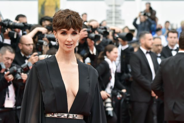 "Spanish actress Paz Vega poses on May 14, 2016 as she arrives for the screening of the film ""The BFG"" at the 69th Cannes Film Festival in Cannes, southern France. (Photo by Alberto Pizzoli/AFP Photo)"