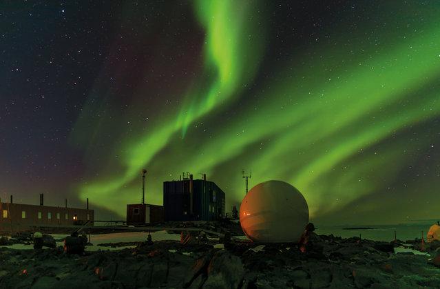 December. Aurora australis over Davis station, Antarctica. (Photo by Barend Becker/Australian Bureau of Meteorology)