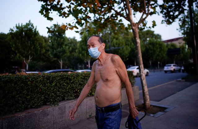 A man wears a face mask, following the coronavirus disease (COVID-19) outbreak in Wuhan, Hubei province, China on September 2, 2020. (Photo by Aly Song/Reuters)
