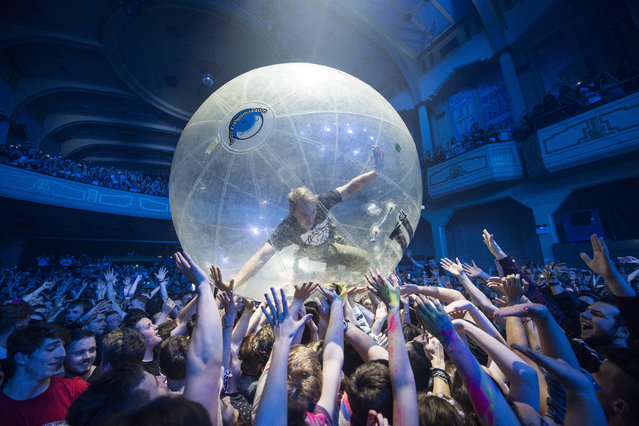 Diplo of Major lazer performs at O2 Academy Glasgow, October 15, 2015, in Glasgow, Scotland. (Photo by Ross Gilmore/Redferns)