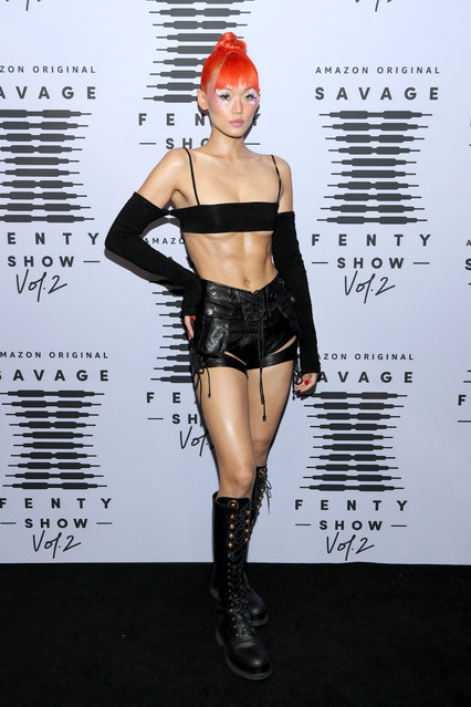 In this image released on October 1, Kitty Louvit attends Rihanna's Savage X Fenty Show Vol. 2 presented by Amazon Prime Video at the Los Angeles Convention Center in Los Angeles, California; and broadcast on October 2, 2020. (Photo by Jerritt Clark/Getty Images for Savage X Fenty Show Vol. 2 Presented by Amazon Prime Video)