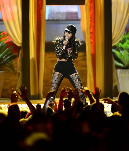 Nicki Minaj perfroms during the show. (Photo by Ethan Miller/Getty Images)