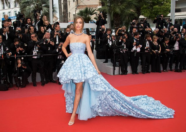 "Model Josephine Skriver poses for photographers upon arrival at the premiere of the film ""Sorry Angel"" at the 71st international film festival, Cannes, southern France, Thursday, May 10, 2018. (Photo by Arthur Mola/Invision/AP Photo)"