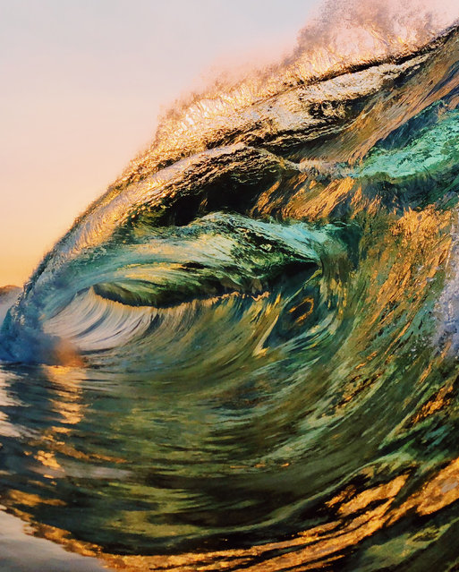 However, as a surf fan, the photographer's overall goal remains the same as it did on Day One: to push the boundaries of what might be possible in wave photography. (Photo by Ryan Pernoski/Caters News Agency)