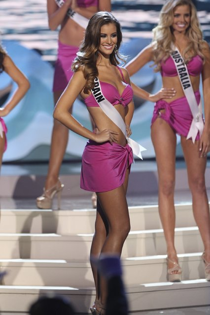 Miss Spain Desire Cordero Ferrer onstage at Florida International University on January 25, 2015 in Miami, Florida. (Photo by Alexander Tamargo/Getty Images)