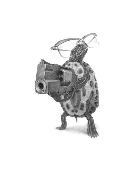 Gun-Toting Animals By Xiau Fong