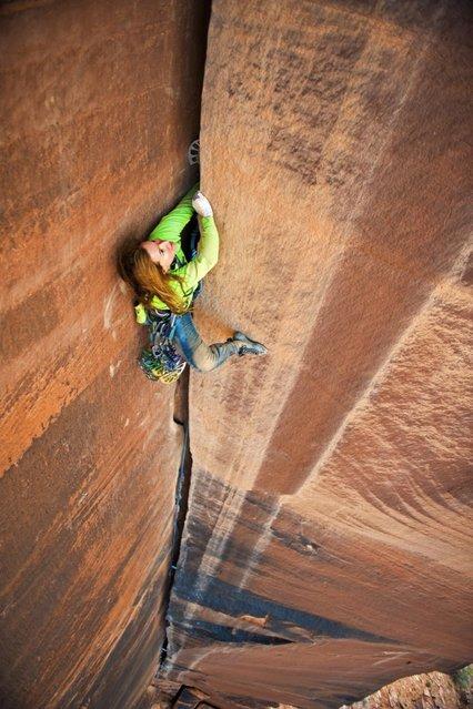 "Photographer: Nathan Smith. Athlete: Pamela ""Shanti"" Pack. Location: Moab, UT, USA. (Photo by Nathan Smith/Red Bull Illume via The Atlantic)"