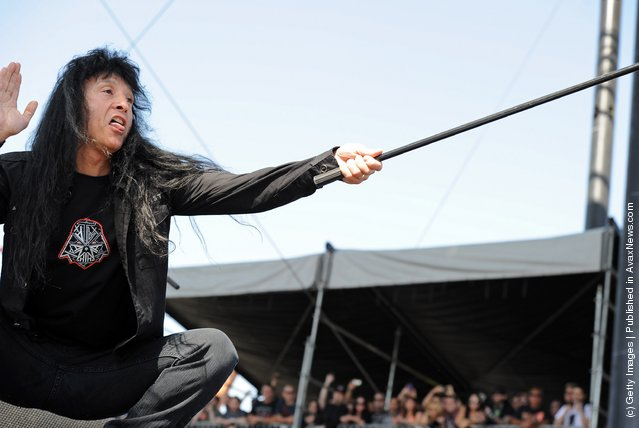 Singer Joey Belladonna of Anthrax