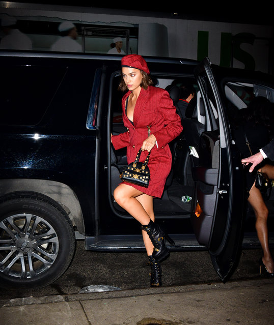 Irina Shayk seen on the streets of Manhattan on January 8, 2019 in New York City. (Photo by James Devaney/GC Images)