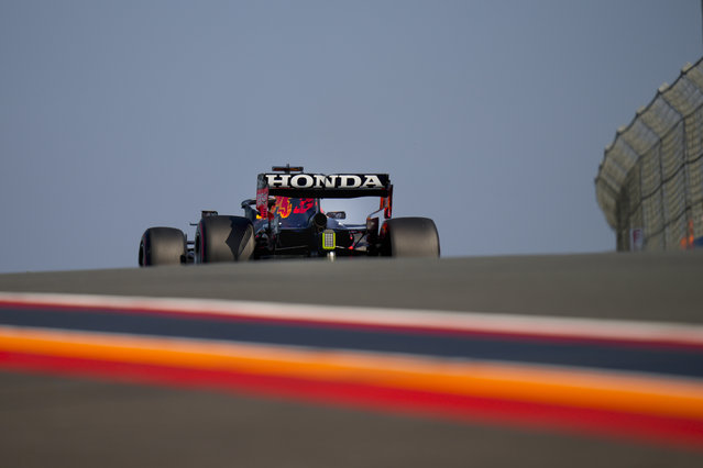 Red Bull driver Max Verstappen of the Netherlands steers his car during the second free practice ahead of Sunday's Formula One Dutch Grand Prix at the Zandvoort racetrack, Netherlands, Friday, September 3, 2021. (Photo by Francisco Seco/AP Photo)
