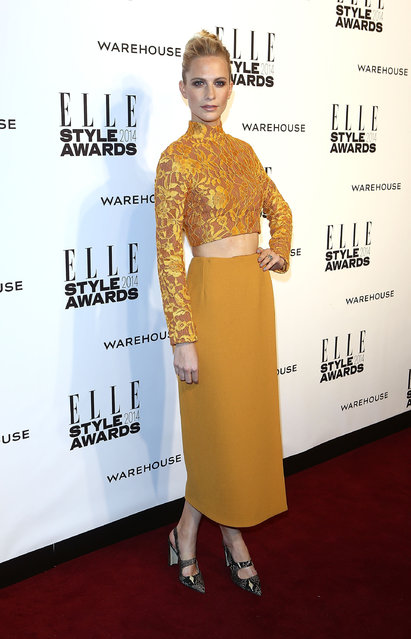 Poppy Delevigne attends the Elle Style Awards 2014 at one Embankment on February 18, 2014 in London, England. (Photo by Tim P. Whitby/Getty Images)
