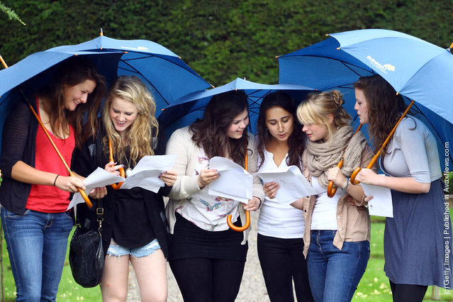 Students Throughout The UK Receive Their A Level Results