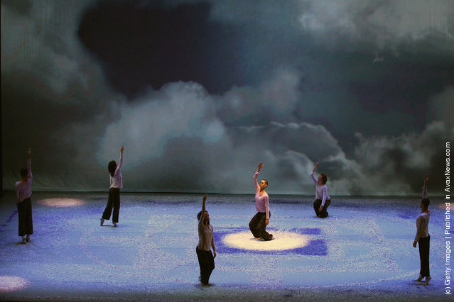 Dancers perform during a rehearsal of Shen Wei's Re- Triptych before opening at the Edinburgh International Festival at The Edinburgh Playhouse