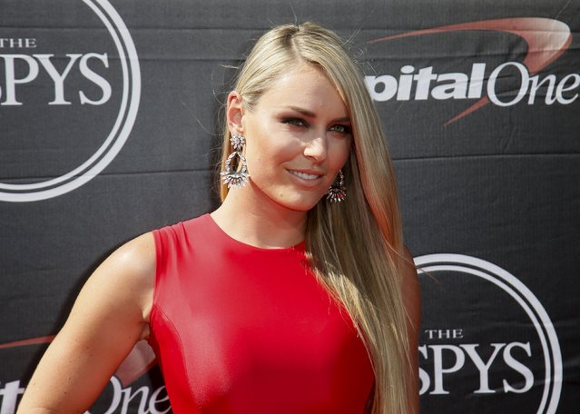 Professional skiier Lindsey Vonn arrives for the 2015 ESPY Awards in Los Angeles, California July 15, 2015. (Photo by Danny Moloshok/Reuters)