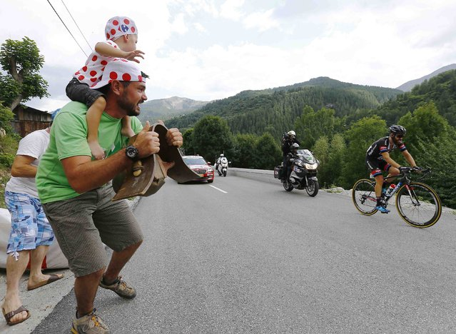 Giant-Alpecin rider Simon Geschke of Germany climbs during the 161-km (100 miles) 17th stage of the 102nd Tour de France cycling race from Digne-les-Bains to Pra Loup in the French Alps mountains, France, July 22, 2015. (Photo by Stefano Rellandini/Reuters)