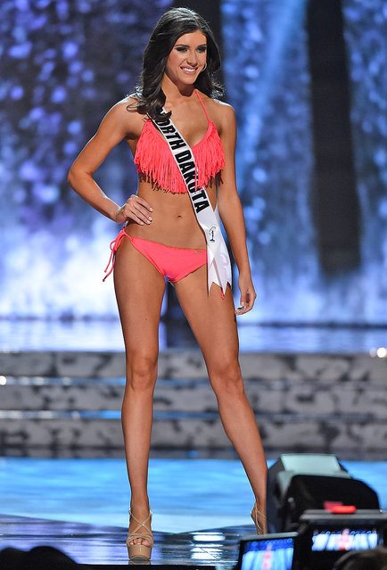 Miss North Dakota USA Halley Maas competes in the swimsuit competition during the 2016 Miss USA pageant preliminary competition at T-Mobile Arena on June 1, 2016 in Las Vegas, Nevada. (Photo by Ethan Miller/Getty Images)