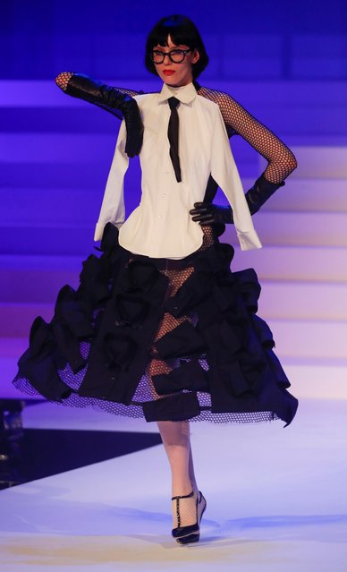 A model presents a creation by designer Jean Paul Gaultier as part of his Haute Couture Spring/Summer 2020 collection show in Paris, France, January 22, 2020. (Photo by Charles Platiau/Reuters)