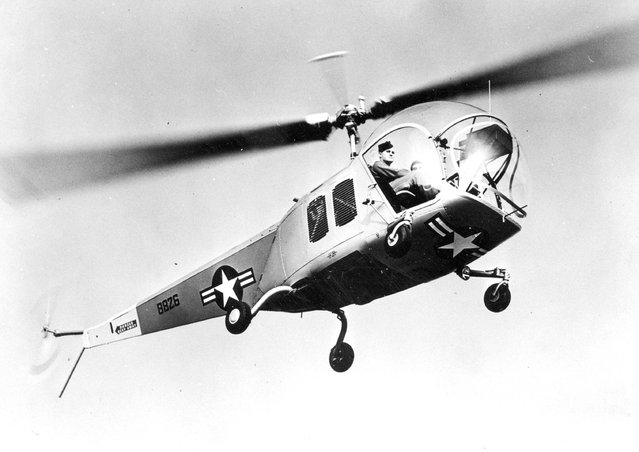 Number 10. BELL H-13 SIOUX was a two-bladed, single engine, light helicopter built by Bell Helicopter. Westland Aircraft manufactured the Sioux under license for the British military as the Sioux AH.1 and HT. (Photo by AP Photo)