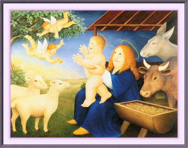 Nativity. Artwork by Beryl Cook