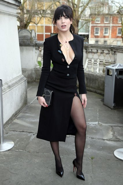 English fashion model Daisy Lowe seen at Christopher Kane at Tate Britain on Day 4 of London Fashion Week February 2017 on February 20, 2017 in London, England. (Photo by SAV/GC Images)