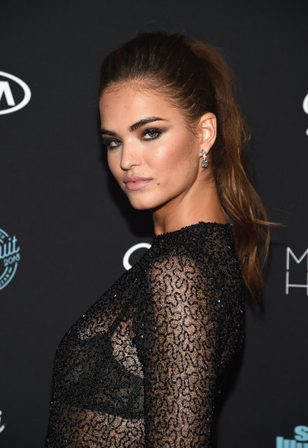 Model Robin Holzken partners with Edge Shave Gel at the launch of this year's Sports Illustrated Swimsuit issue at Magic Hour Rooftop Bar & Lounge on February 14, 2018 in New York City. (Photo by Ilya S. Savenok/Getty Images for Edge Shave Gel)