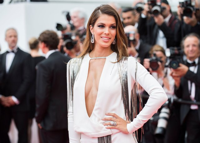 "Model Iris Mittenaere poses for photographers upon arrival at the premiere of the film ""Sorry Angel"" at the 71st international film festival, Cannes, southern France, Thursday, May 10, 2018. (Photo by Arthur Mola/Invision/AP Photo)"