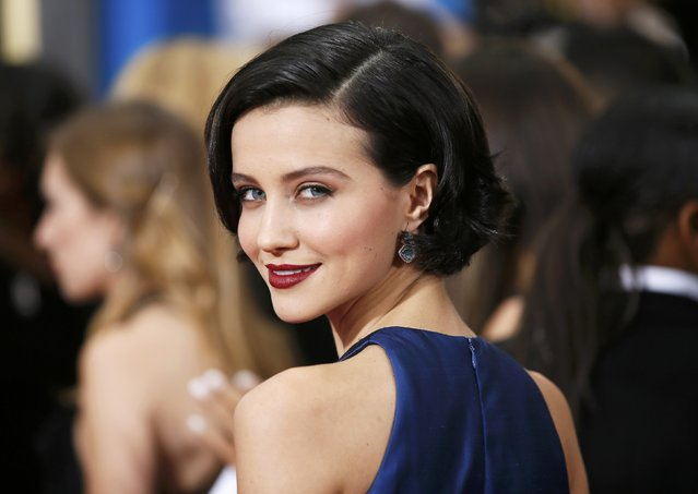 Actress Julia Goldani Telles arrives at the 72nd Golden Globe Awards in Beverly Hills, California January 11, 2015. (Photo by Danny Moloshok/Reuters)