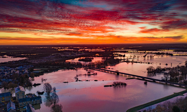 Flooding in Cambridgeshire, United Kingdom on January 31, 2021. (Photo by Terry Harris/Rex Features/Shutterstock)
