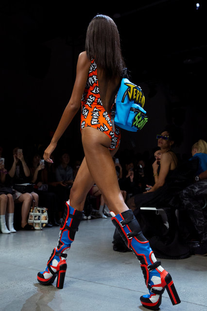 A model presents a creation from the Jeremy Scott Spring/Summer 2019 collection during New York Fashion Week in the Manhattan borough of New York City, U.S., September 6, 2018. (Photo by Caitlin Ochs/Reuters)