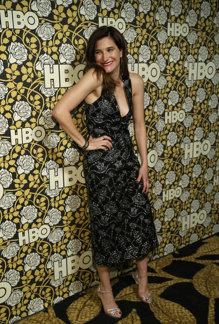 Actress Kathryn Hahn arrives at The HBO Golden Globe After Party in Beverly Hills, California January 10, 2016. (Photo by Mario Anzuoni/Reuters)
