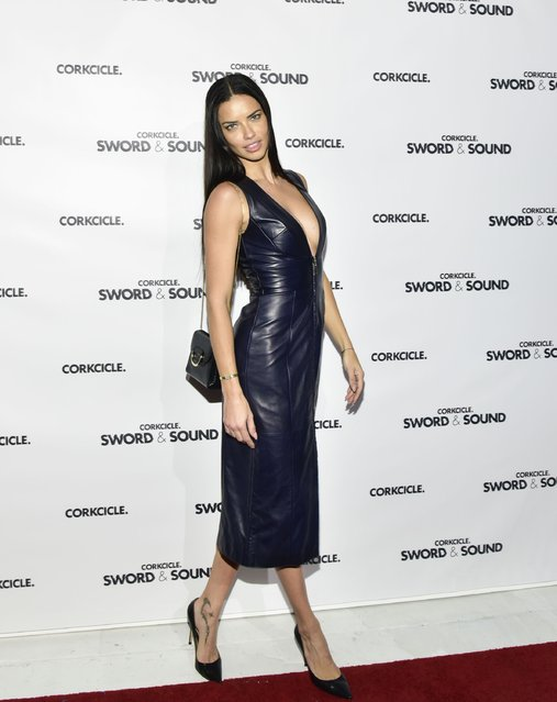 Adriana Lima attends the CORKCIRCLE Presents SWORD & SOUND at Shop Studios on December 7, 2016 in New York City. (Photo by Eugene Gologursky/Getty Images for CORKCIRCLE)
